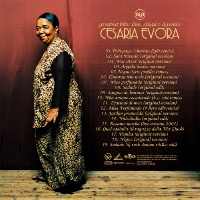 Cesaria Evora - Greatest Hits live, singles & remix Inlay