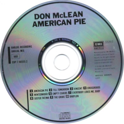 Don McLean - American Pie CD