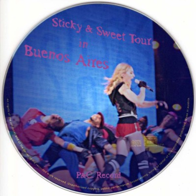 Madonna - Sticky & Sweet Tour in Buenos Aires Cd