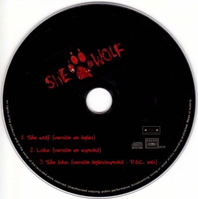 shakira - shewolf CD
